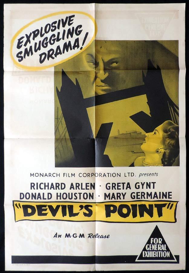 DEVIL'S POINT One Sheet Movie Poster Richard Arlen Devil's Harbor