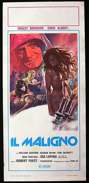 THE DEVILS RAIN Original Locandina Movie Poster Burgess Meredith William Shatner