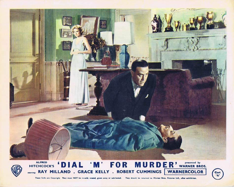 DIAL M FOR MURDER Front of House Movie Still 7 1954 8 x 10 Grace Kelly Alfred Hitchcock