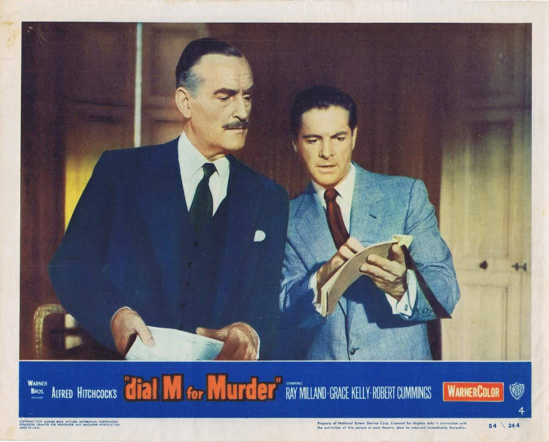 DIAL M FOR MURDER Lobby card 4 1954 Grace Kelly Alfred Hitchcock