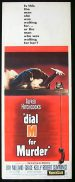 DIAL M FOR MURDER Movie Poster 1954 Kelly Hitchcock ORIGINAL US insert