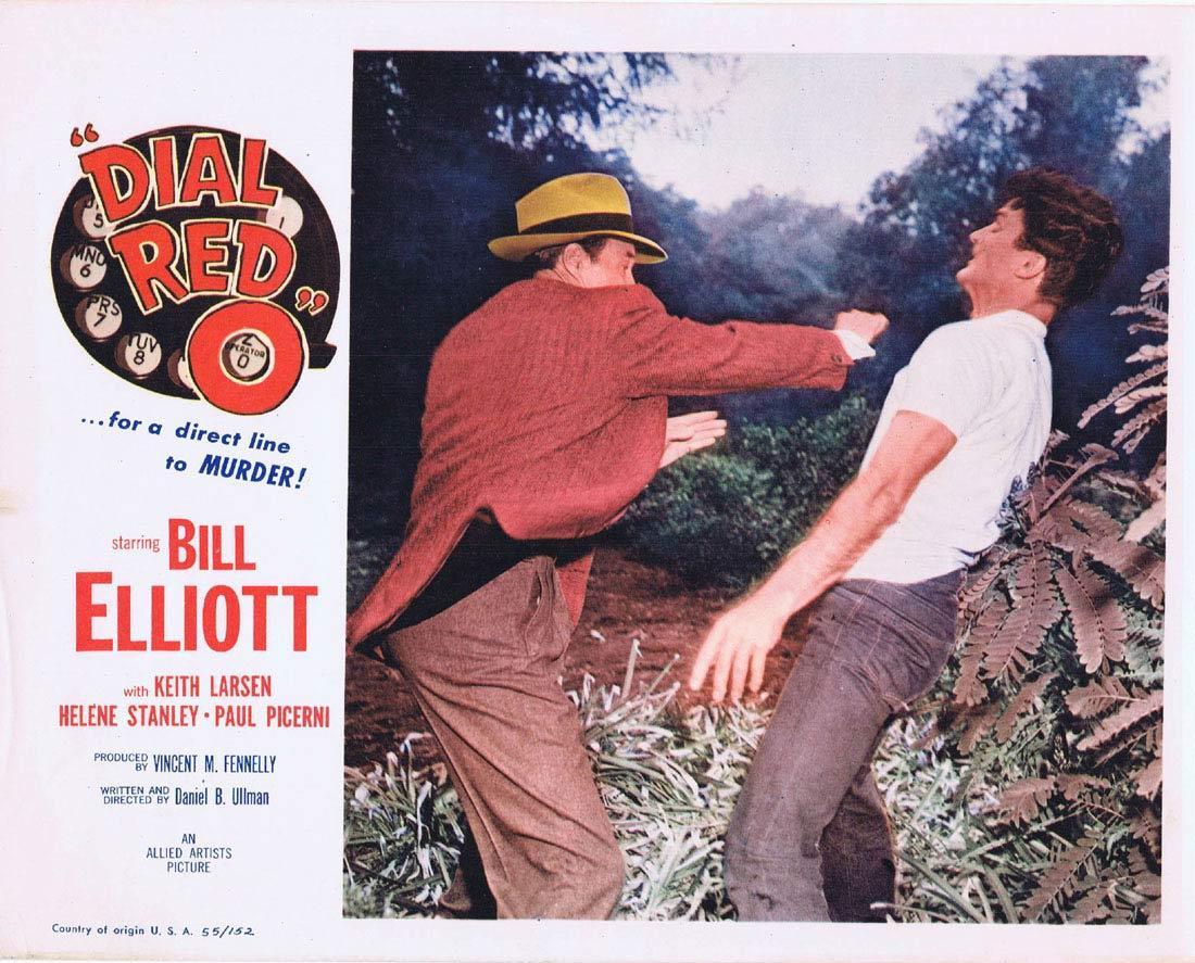 DIAL RED 0 Lobby card 2 Bill Elliott FIlm Noir