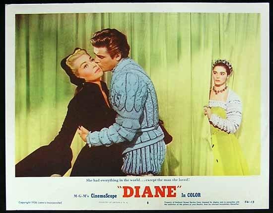 DIANE 1956 Lobby card 8 Lana Turner Roger Moore