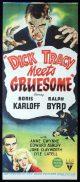 DICK TRACY MEETS GRUESOME Original Daybill Movie Poster Boris Karloff Ralph Byrd Anne Gwynne