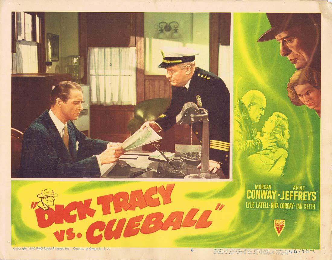 DICK TRACY vs CUEBALL Original Lobby card Bill Elliott Morgan Conway