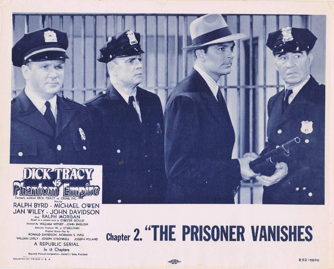 DICK TRACY VS PHANTOM EMPIRE Original Lobby Card Chapter 11 Republic Serial 1952r