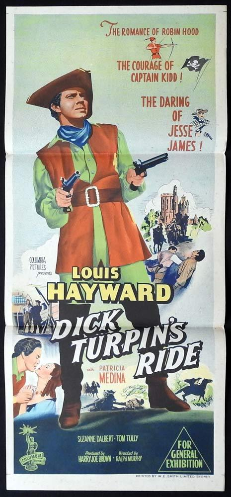 DICK TURPIN'S RIDE aka LADY AND THE BANDIT Original Daybill Movie poster
