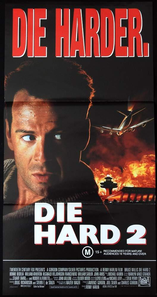 DIE HARD 2 Australian daybill Movie poster Die Harder Bruce Willis