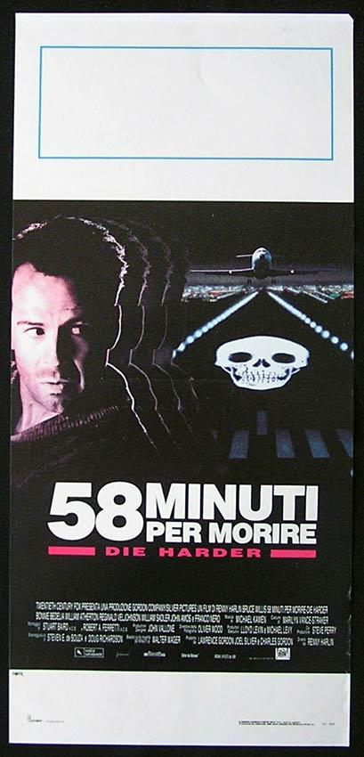 DIE HARD 2 Italian Locandina Movie Poster Bruce Willis Die Harder
