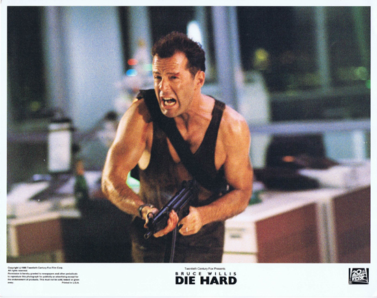 DIE HARD Lobby Card 1 Bruce Willis