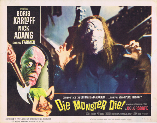 DIE MONSTER DIE 1965 Boris Karloff Lobby Card 5