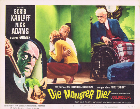 DIE MONSTER DIE 1965 Boris Karloff Lobby Card 7