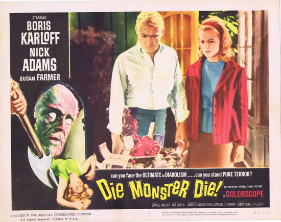 DIE MONSTER DIE 1965 Boris Karloff Lobby Card 8