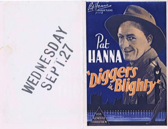 DIGGERS IN BLIGHTY 1933 Pat Hanna Movie Herald Australian Cinema Classic