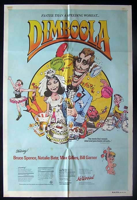 DIMBOOLA 1979 Bruce Spence RARE Australian One Sheet movie poster