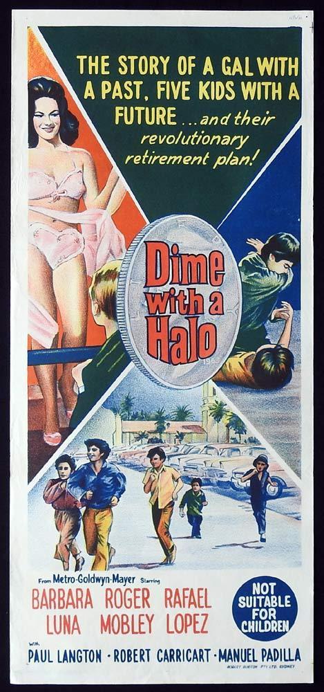 DIME WITH A HALO Original Daybill Movie Poster BarBara Luna