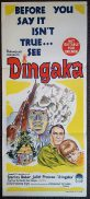 DINGAKA Original Daybill Movie Poster Ken Gampu Stanley Baker Juliet Prowse