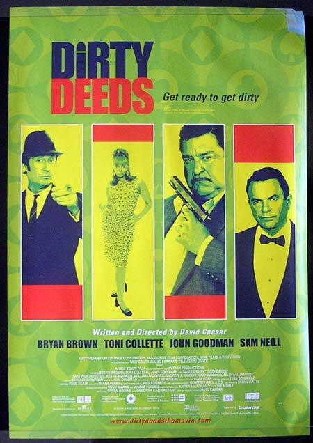 "DIRTY DEEDS 2002 1 sheet Movie poster Bryan Brown Toni Collette ""A"""