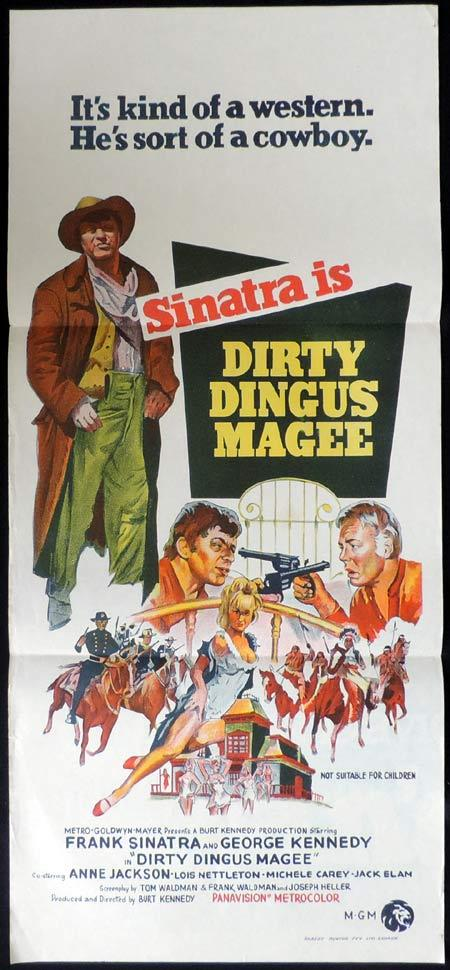 DIRTY DINGUS MAGEE Original Daybill Movie Poster Frank Sinatra