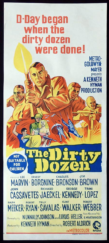 THE DIRTY DOZEN Original Daybill Movie poster Lee Marvin Charles Bronson
