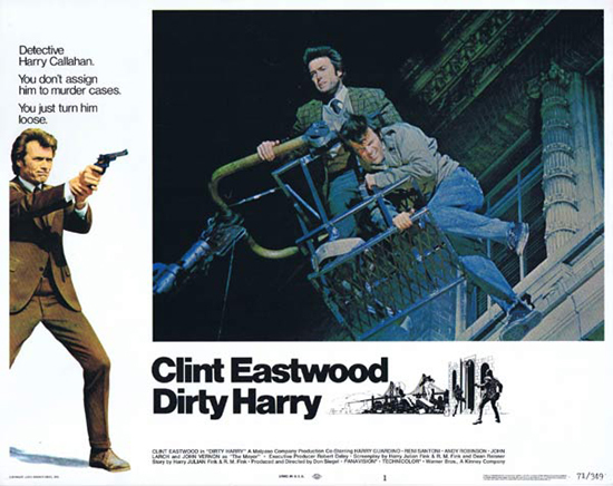 DIRTY HARRY Lobby Card 1 1971 Clint Eastwood