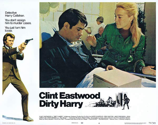 DIRTY HARRY Lobby Card 4 1971 Clint Eastwood