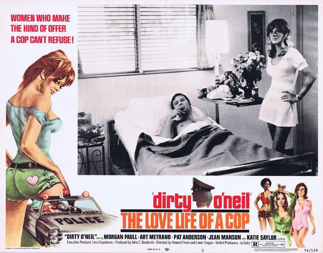 DIRTY O'NEIL THE LOVE LIFE OF A COP Lobby Card 3 Morgan Paull Art Metrano
