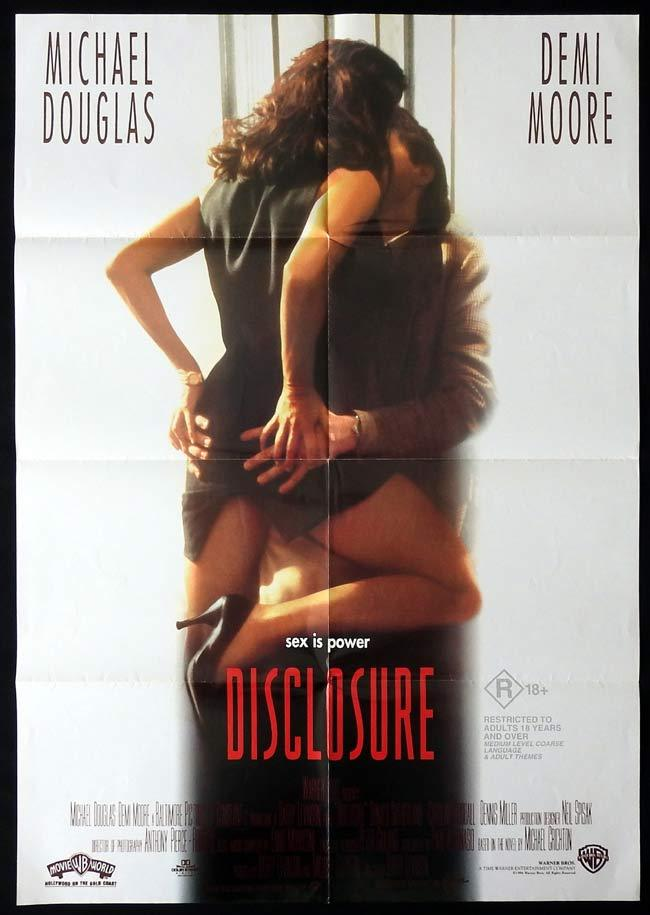 DISCLOSURE Original One sheet Movie poster Michael Douglas Demi Moore