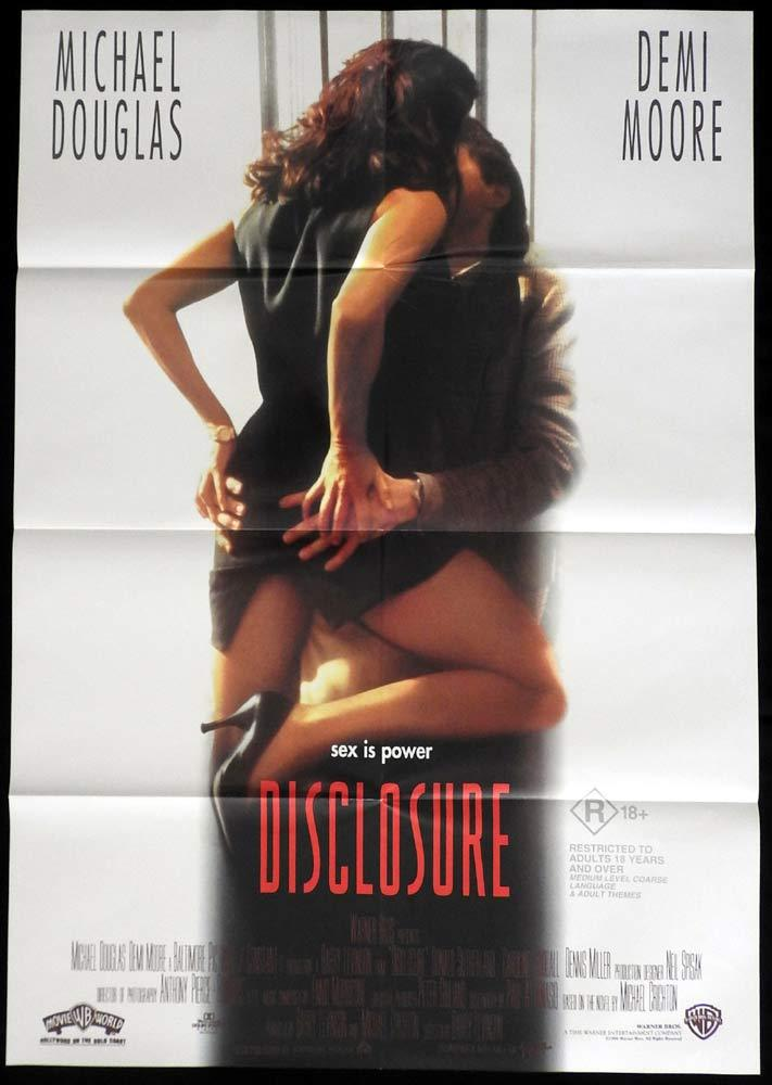 DISCLOSURE One sheet Movie poster Michael Douglas Demi Moore