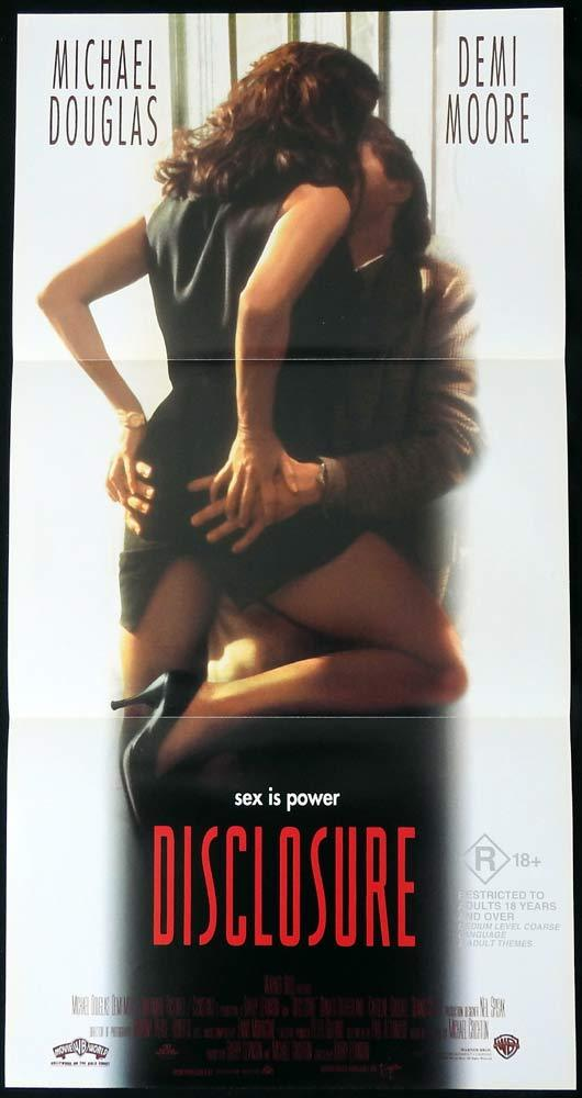 DISCLOSURE Daybill Movie poster Michael Douglas Demi Moore