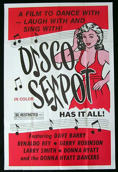DISCO SEXPOT One sheet Movie Poster Sexploitation poster