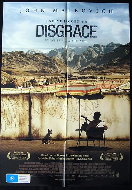 DISGRACE Movie Poster 2008 John Malcovich Australian One sheet