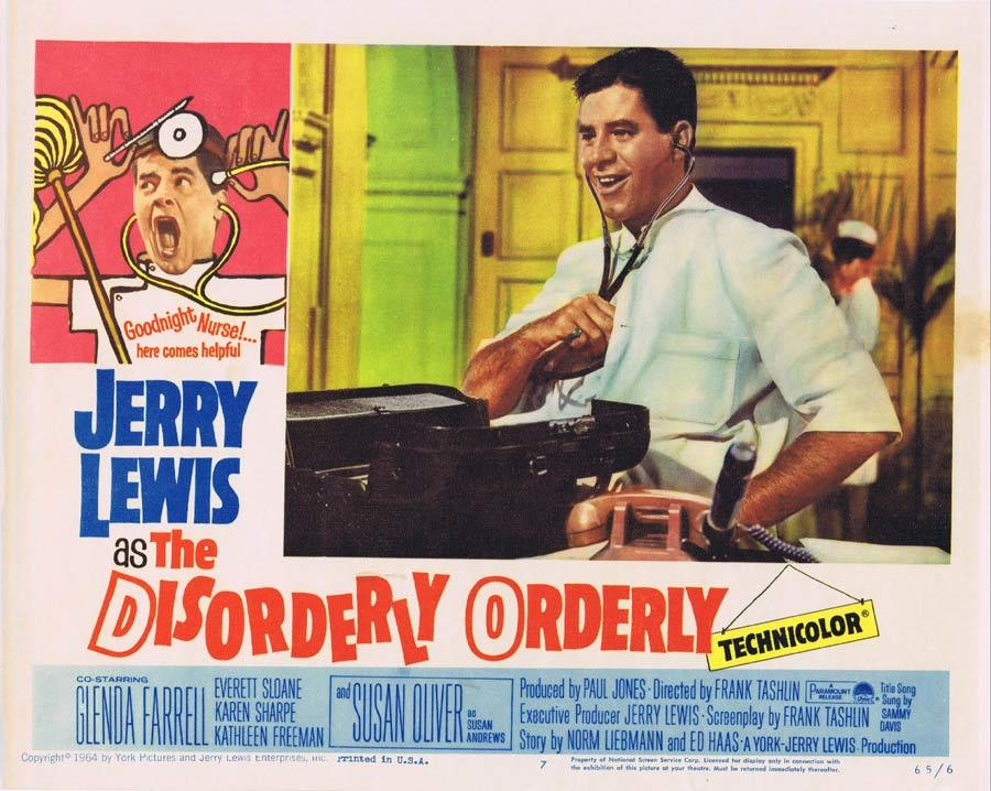 THE DISORDERLY ORDERLY Lobby Card 7 Jerry Lewis