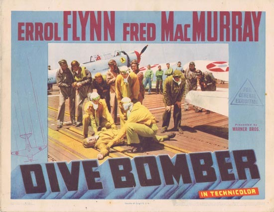 DIVE BOMBER Lobby Card 2 1941 Errol Flynn Fred MacMurray