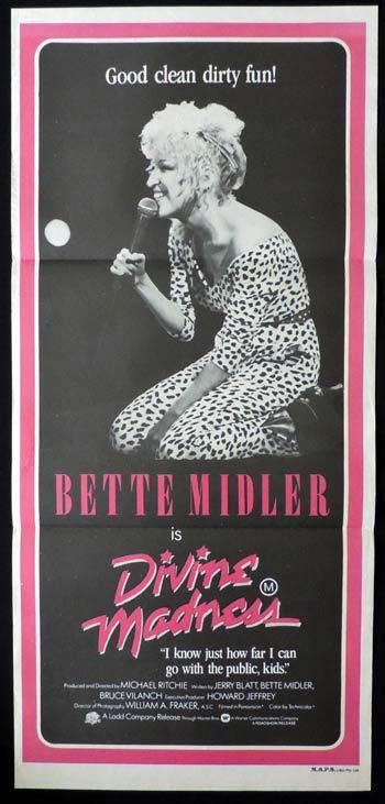 Divine Madness, Michael Ritchie, Bette Midler, Daybill, Movie Poster