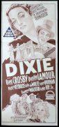 DIXIE Original 1940s Daybill Movie Poster BING CROSBY Dorothy Lamour Richardson Studio
