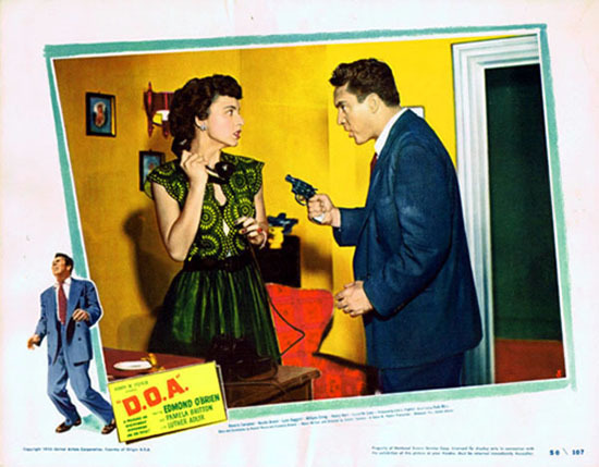 D.O.A 1950 Edmond O'Brien Film Noir VINTAGE US Lobby Card 3