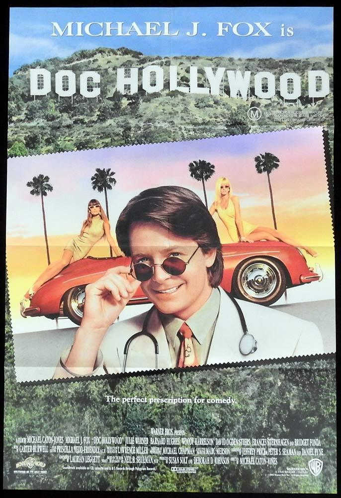 DOC HOLLYWOOD One sheet Movie Poster Michael J. Fox