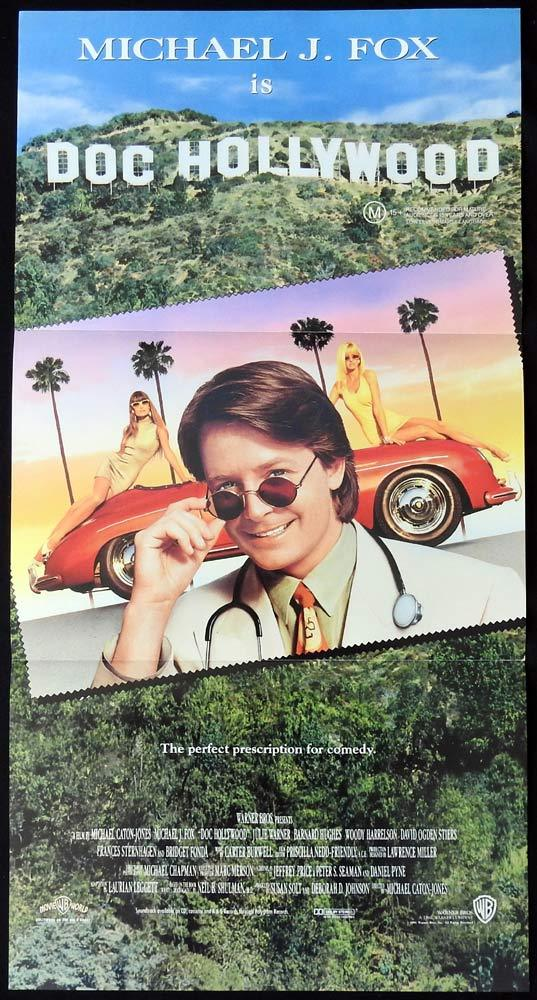 DOC HOLLYWOOD Daybill Movie Poster Michael J. Fox