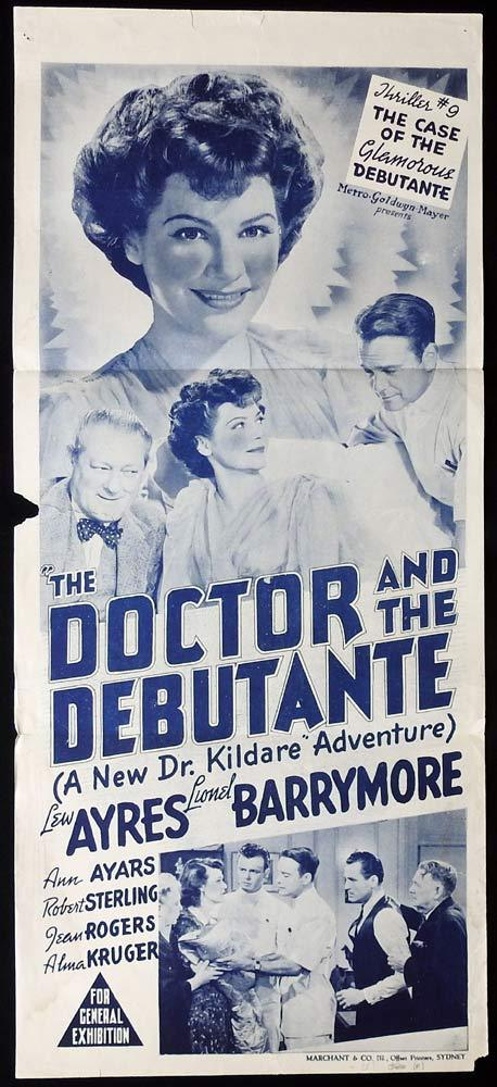 THE DOCTOR AND THE DEBUTANTE Original 1940s Daybill Movie poster Dr Kildare Marchant