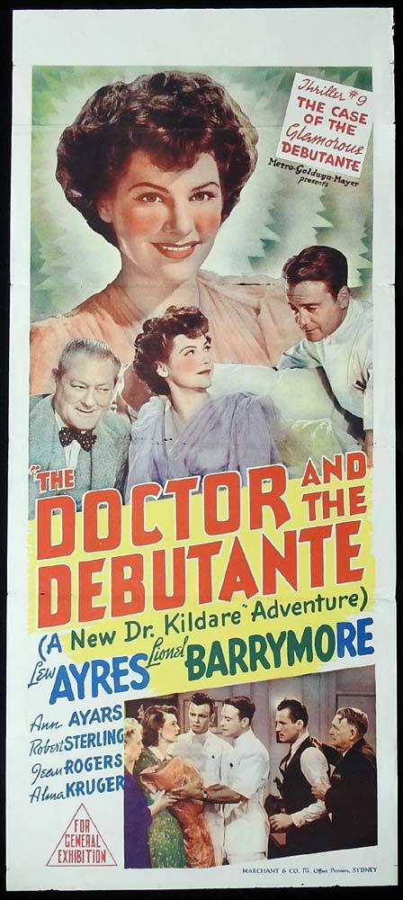 THE DOCTOR AND THE DEBUTANTE aka DR KILDARE'S VICTORY Original Daybill Movie Poster