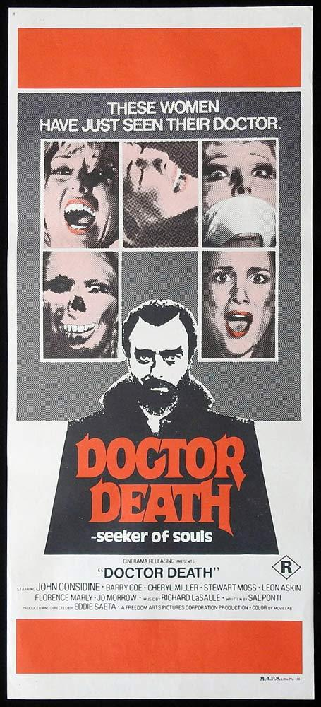 DOCTOR DEATH Original Daybill Movie Poster John Considine Magician