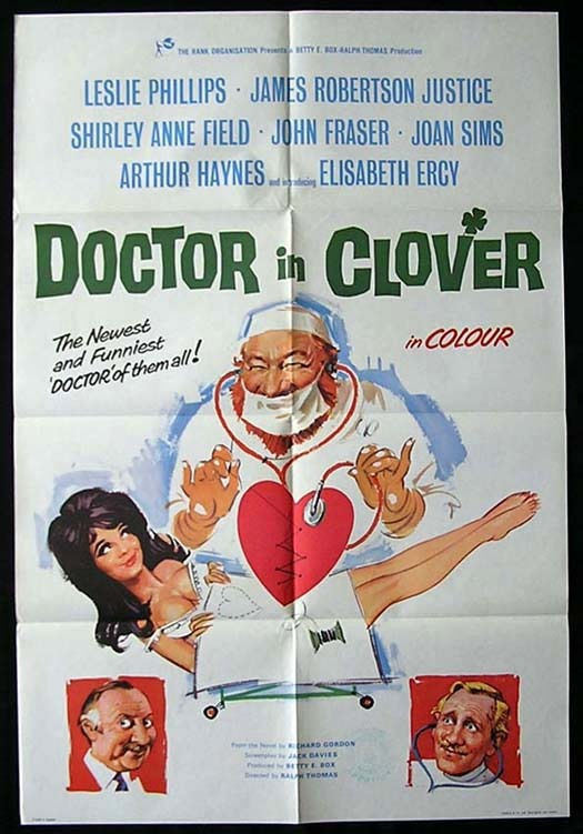 DOCTOR IN CLOVER Movie poster 1966 Rare British One sheet