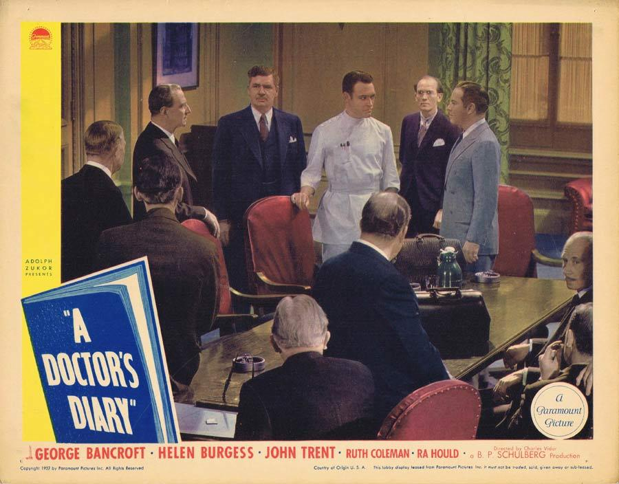 A DOCTOR'S DIARY Lobby Card 6 George Bancroft Helen Burgess