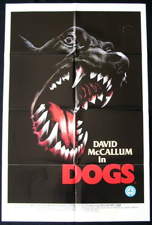 DOGS Original One sheet Movie poster DOBERMAN Horror