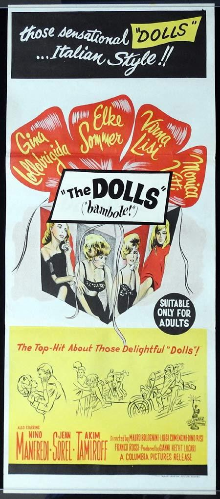THE DOLLS aka LE BAMBOLE Daybill Movie Poster Gina Lollobrigida Elke Sommer