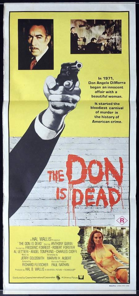 THE DON IS DEAD Original Daybill Movie Poster Anthony Quinn Frederic Forrest Al Lettieri