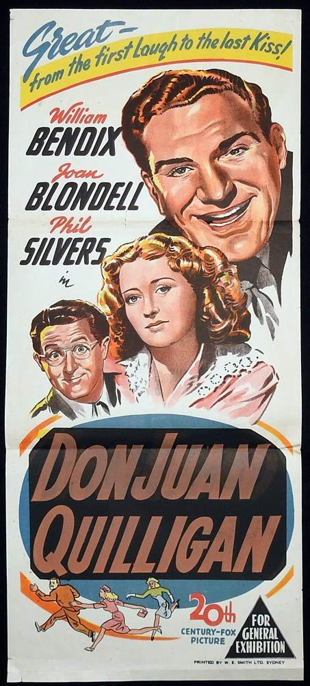 DON JUAN QUILLIGAN Original Daybill Movie Poster William Bendix