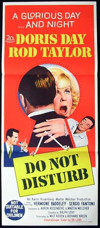 DO NOT DISTURB '65 Doris Day Daybill Movie poster