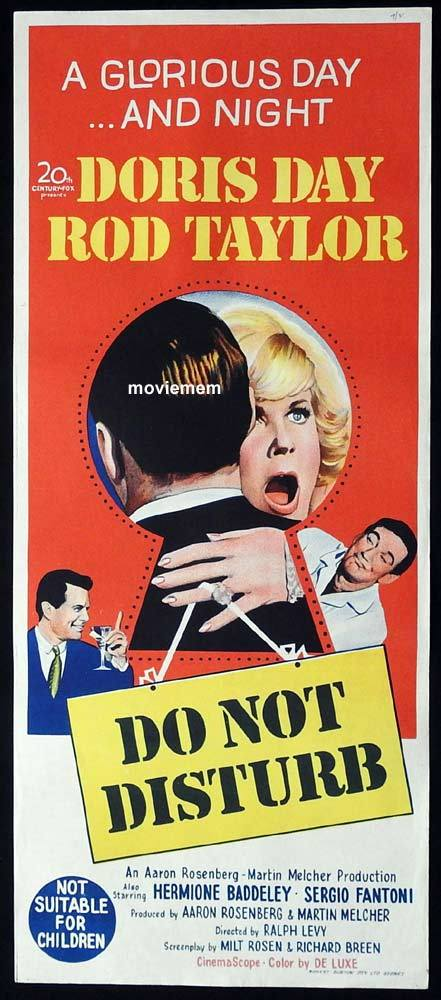 DO NOT DISTURB Original Daybill Movie Poster Doris Day Rod Taylor